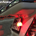 Caoku bicicleta luz trasera bicicleta luz trasera bicicleta luz de advertencia de luz de la noche de huevo del corazón accesorio en forma de corazón de diseño a prueba de agua