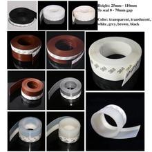 Draft Stopper Sliding Sash Glass Metal Wooden Door Window Seals 25mm 35mm 45mm x 5m 60mm 110mm x 3m Brown White Black Gray