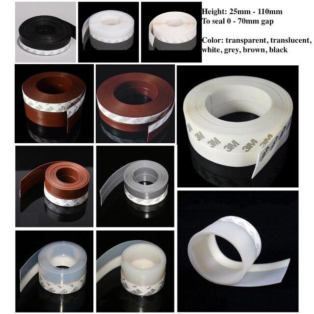 Draft Stopper Sliding Sash Glass Metal Wooden Door Window Seals 25mm 35mm 45mm X 5m 60mm