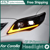 AKD Car Styling For Toyota Corolla Headlights 2011 2013 Altis LED Headlight DRL Bi Xenon Lens