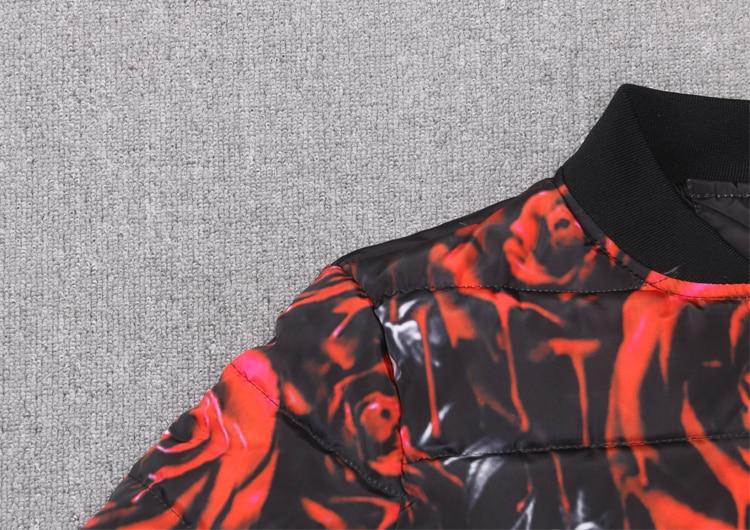 Veste Hiver 2019 Floral Print Numérique Survêtement Impression Vêtements Loup Rose Occasionnel Chaude D'hiver Parkas Animal 3d Nouvelle B6drwq6