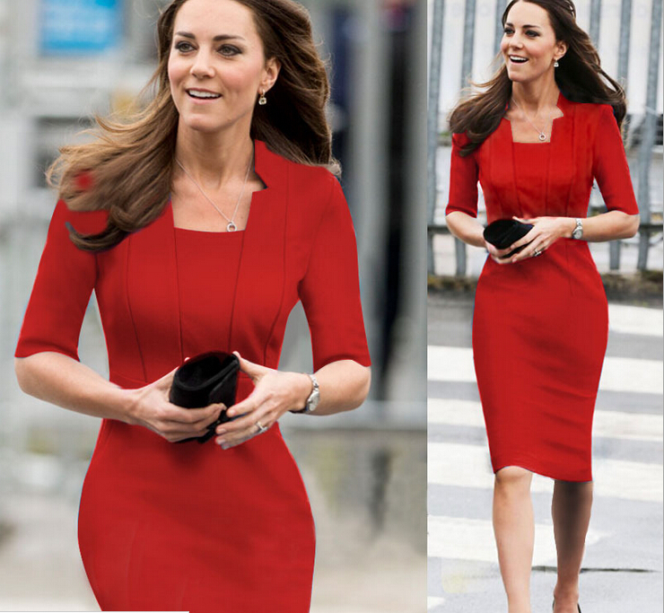 88ad6733aeb 2015 fashion Women patchwork woman wrap Work Business Casual office evening  party Dress clothing long sleeve dress china-in Dresses from Women s  Clothing on ...