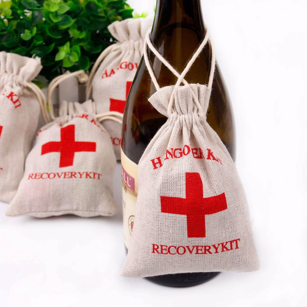 Fengrise 10 Pcs Hangover Kit Bags Wedding Favors And Gifts For Guests I Regret Nothing Bachelorette Party Supplies In Gift Wring