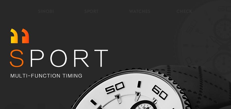 Montres de Sport minuterie hommes chronomètre 30 m étanche
