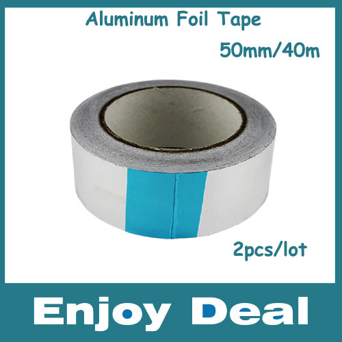 Intelligent 2pcs/lot Free Shipping Hottest Size 50mm*40m*0.06 Aluminum Foil Tape High Temperature Slivery Tape Great Varieties Aluminum Adhesive Tape