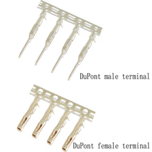 100pcs/lot DuPont line terminal 2.54mm pitch cold-pressed terminal DuPont plastic shell terminal block