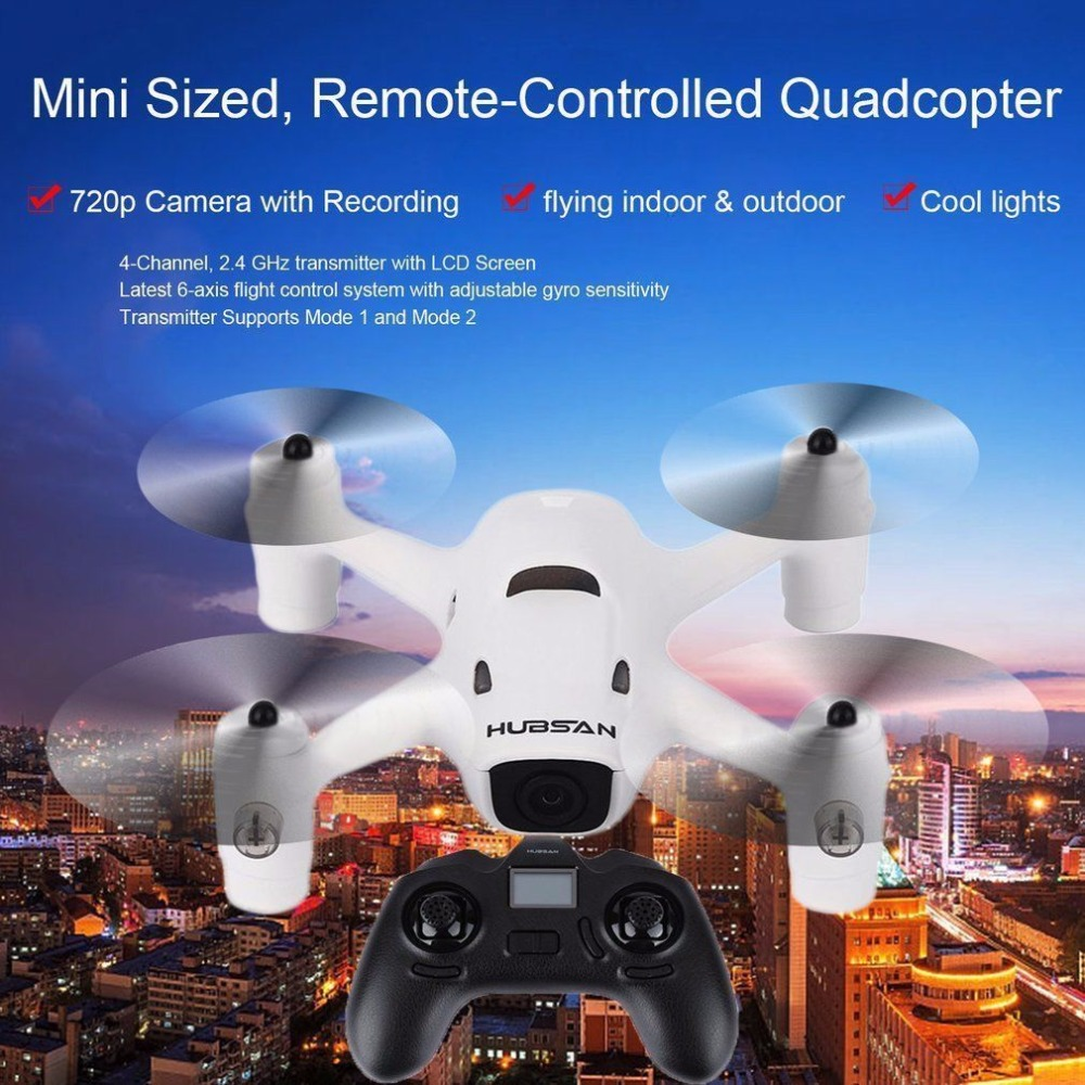 Hubsan H107C+ X4 Cam Plus 6-axis Gyro 4CH RC Quadcopter Drone Helicopter with HD Camera Headless Mode LED Lights Altitude Hold