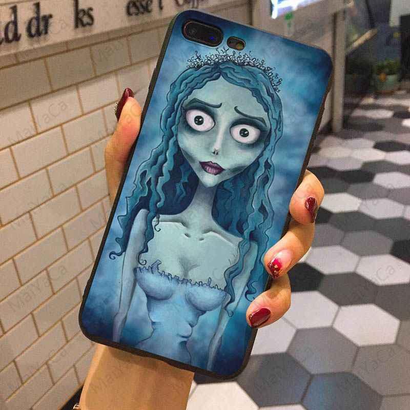 MaiYaCa גופת טים ברטון של חתונת רפאים מכירה לוהטת אופנה עיצוב תא מקרה עבור iphone X XS XR XSMax 7 8 בתוספת 5S SE שחור מקרה