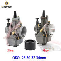 ZSDTRP 2T 4T 28 30 32 34mm Carburetor Replacement OKO PWK Carb with Power Jet Racing Scooter Dirt Bike Pit ATV
