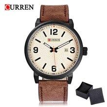 2017 Curren спортивные Для мужчин часы Повседневные часы Топ Элитный бренд кожа наручные часы Водонепроницаемый Relogio masculino 8218 против 8023