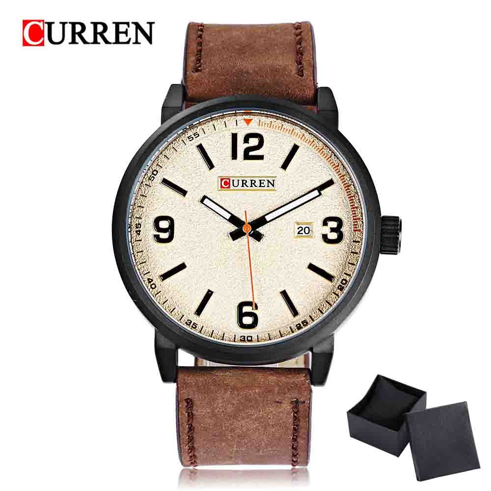 2018 Curren Sports Men Watch Quartz Watches Top Luxury Brand Leather Wristwatch Waterproof Relogio Masculino 8218 VS 8023 цена и фото