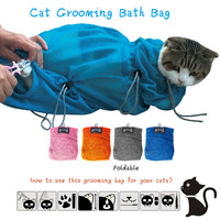 2017 4 COLOR Cat Bags Bath Bags Candy Colors Multifunctional Cat Grooming Bag Fitted Mesh Bag