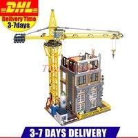 2018 DHL LePin 15031 4425 шт. натуральная MOC серии классический строительный сайт строительные блоки кирпичи игрушки модель рождественские подарки