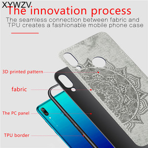 Image 3 - For Huawei Y7 2019 Shockproof Soft TPU Silicone Cloth Texture Hard PC Phone Case For Huawei Y7 2019 Back Cover Huawei Y7 2019