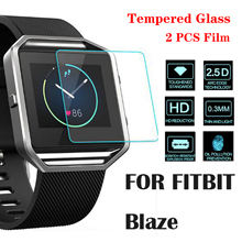 Newest Tempered Glass For Fitbit Blaze 2.5D 9H Screen Protector Film Sports SmartWatch Case