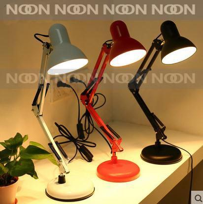 led table lamp iron morden american foldable long arm can clip desk lamp reading lamp e27 110v 220v clip office lamp for study aliexpresscom buy foldable office table desk