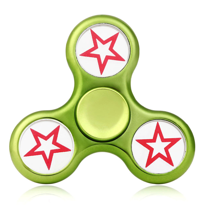 2107 New Finger Spinner Tri Fidget Hand Spinner Triangle Metal Finger Focus Toy ADHD Autism Kids