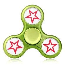 2107นิ้วใหม่ปั่นTriอยู่ไม่สุขมือปั่นสามเหลี่ยมนิ้วโลหะโฟกัสของเล่นสมาธิสั้นออทิสติกเด็ก/ผู้ใหญ่ของเล่นมิถุนายน13