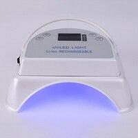 Портативный 64 Вт светодиодный ногтей света с Перезаряжаемые Батарея ногтей Гель лак Сушилка Маникюр гель ногти Книги по искусству ламп для