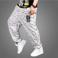 Plus size HipHop Fashion Mens Track Pants Skate Rap Parkour Loose casual Boys Joggers Dance men full length trousers sweatpants