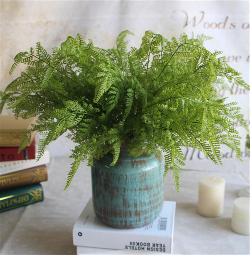 real touch feeling fern leaf bunch 5pcs artificial fern greenery