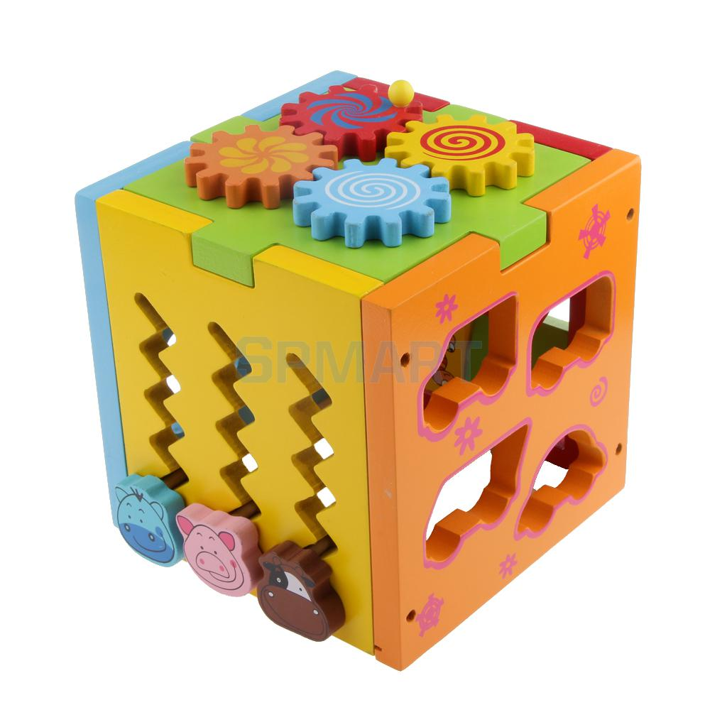 Wooden Multifunctional Matching Building Blocks Kids Toddlers Children Educational Toy Gifts 54pcs children wooden tower wiss toys kids wood number building blocks christmas gifts educational toy fast shipping english
