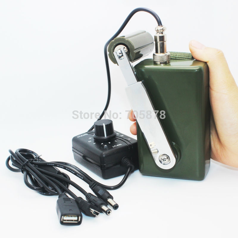 Protable Hand Crank Charger 30W/0-28V Emergency Phone Charger Dynamo Generator title=
