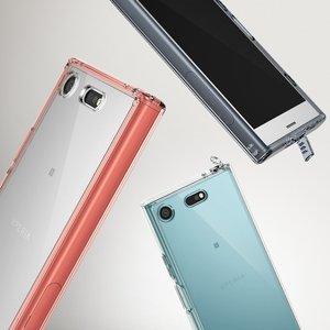 Image 5 - Чехол Ringke Fusion для Sony Xperia XZ1 компактный прозрачный ПК задний бампер из ТПУ встроенный пылезащитный Разъем сопротивление падению гибридные Чехлы