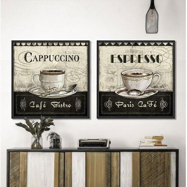 Cappuccino Kaffee Tasse Leinwand Wand Kunst Wohnkultur Malerei