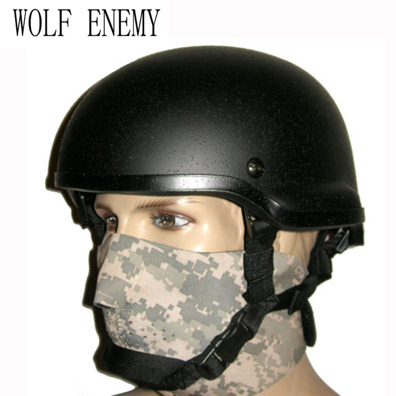Tactical Military Army Pistol Helmet Army Helmet ACH MICH 2002 Helmet Outdoor Helmet military tactical combat mich 2002 helmet nvg mount side rail for outdoor airsoft tactical helmet