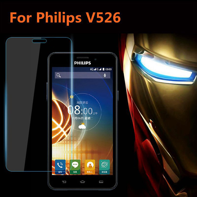 For Philips Xenium V526 Nano Clear Premium Front Explosion-proof Screen Protector Front Protective Film For Philips V526 V 526