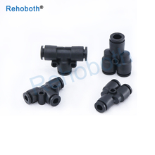1PC T/Y Type Mini Pneumatic Push In Fittings For Air/Water Hose and Tube Connector 4mm 6mm PY/PE