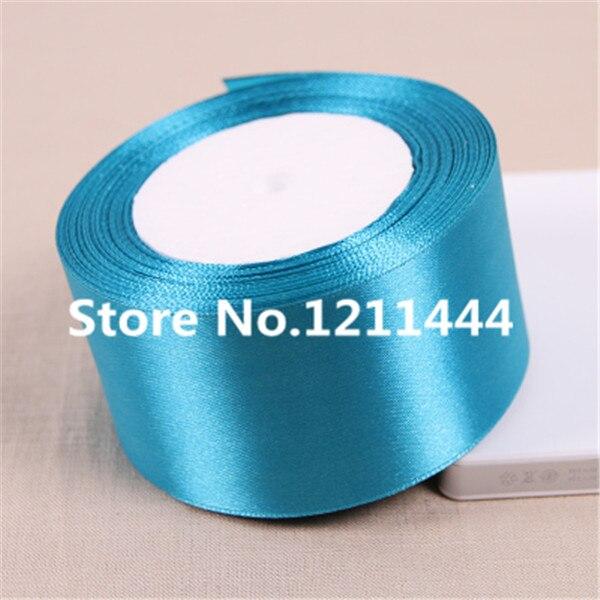 Красивый синий Ленты для свадьбы Аксессуары оптовая продажа подарочной упаковки или упаковка ленты 25 ярдов/рулон 50 мм 2 дюйма