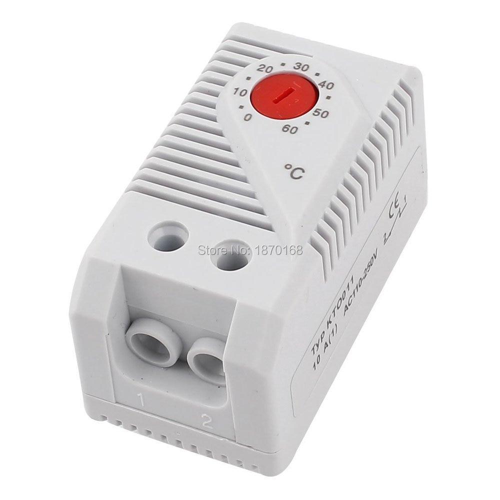0 - 60 derajat Celsius bimetal termostat, Pengontrol suhu uxcell ac 250v 16a 70 celsius bimetal adjustable temperature heating thermostat 70 celsius