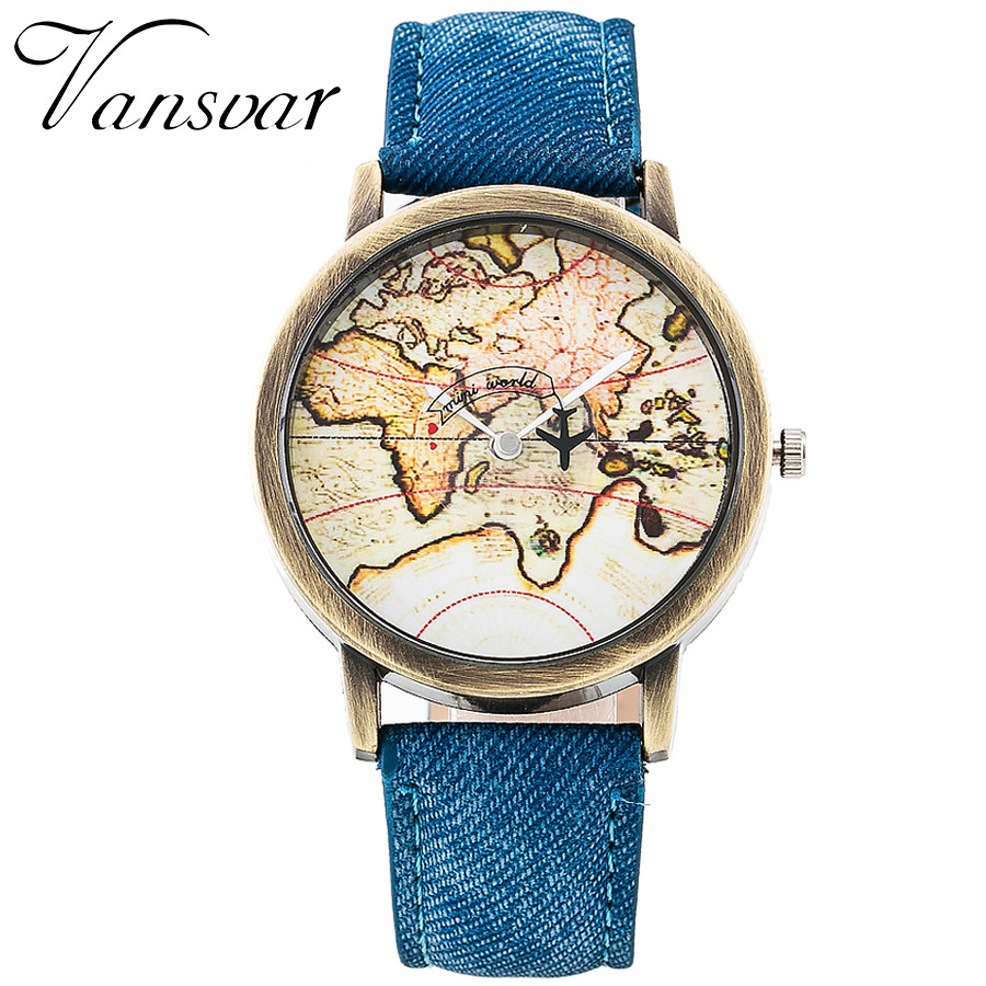 Vansvar Brand Fashion World Map Watch Women Casual Leather Strap Quartz Watches Montre Femme Relogio Feminino 533Vansvar Brand Fashion World Map Watch Women Casual Leather Strap Quartz Watches Montre Femme Relogio Feminino 533