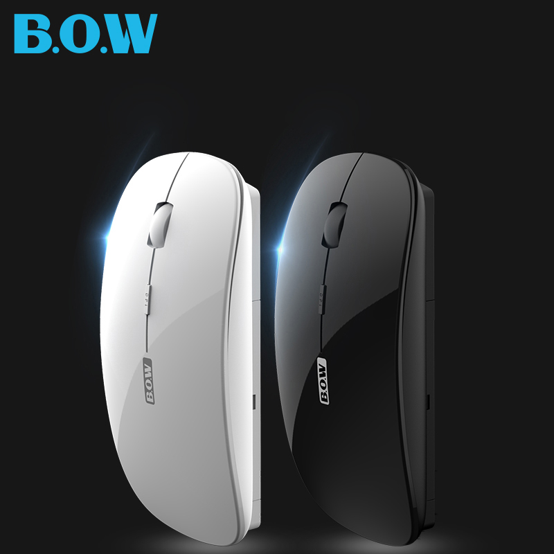 B.O.W Wireless mouse 2.4Ghz, Rechargeable Silent Optical Wireless Mouse Mice Nano USB Receiver Mouse For Computer Laptop Desktop