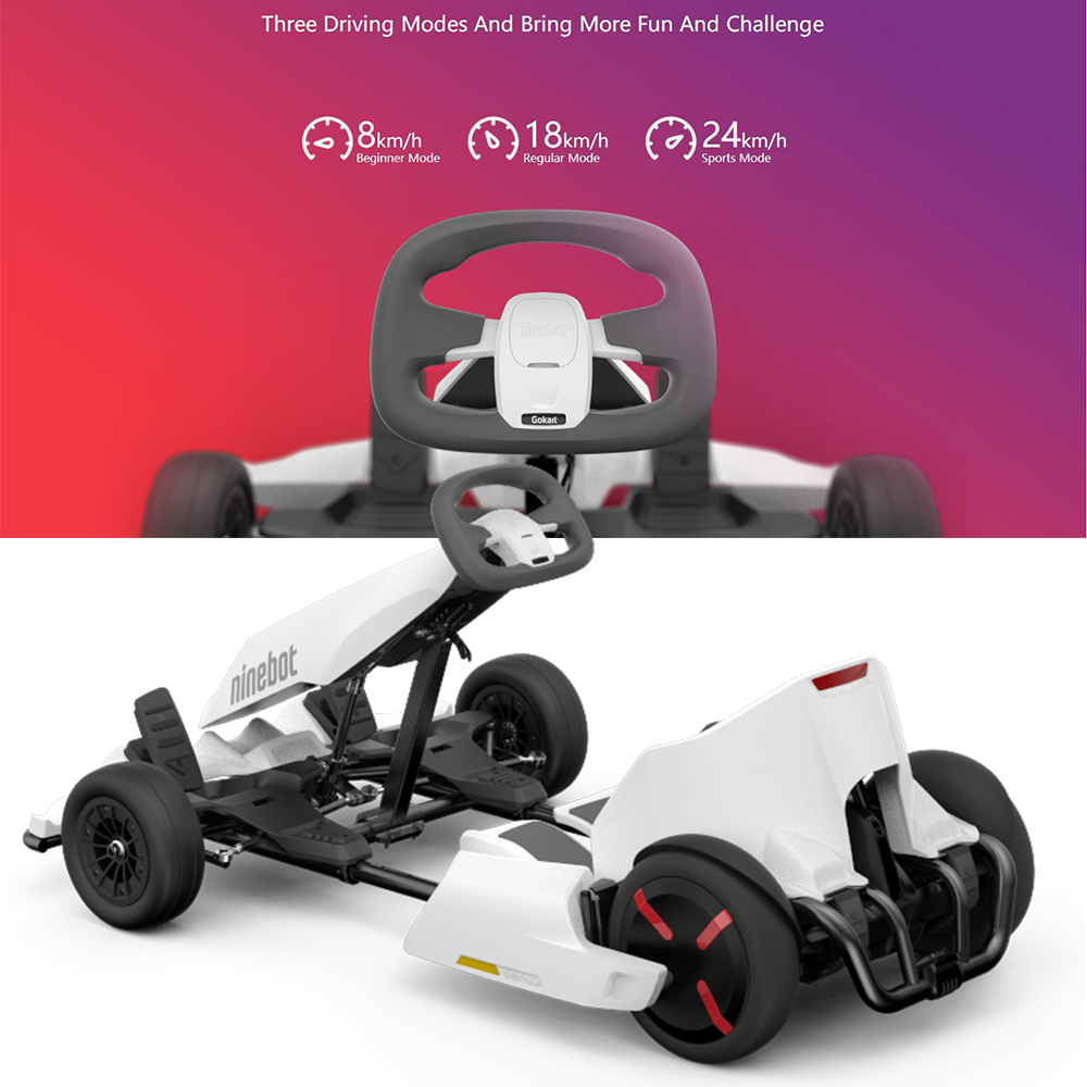 Original Ninebot Gokart Kit Refit Smart Self Balancing Electric Scooter Xiaomi Mini By Segway Pro Racing Go Kart In Balance Scooters From