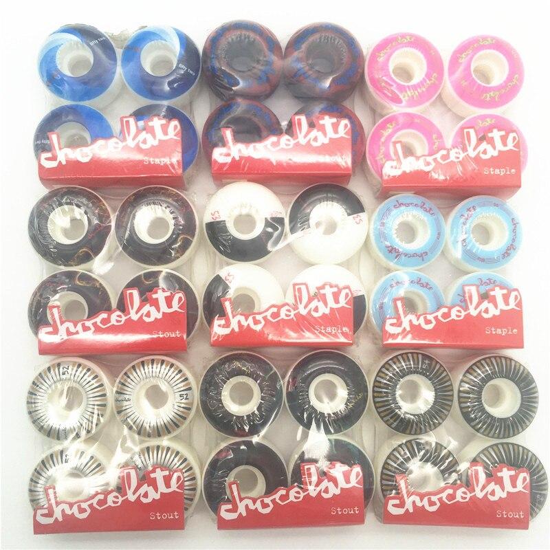 USA BRAND PRO 4pcs/set Wheel Skates Kaykay Board Wheels 51-55mm PU Skateboard Wheels Skate Board Wheels Patins Adulto Rodas