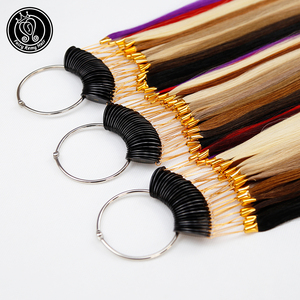 Image 4 - Fairy Remy Hair 100% Remy Human Hair Color Rings/ Colour Charts 26 Colors Available Can Be Dyed For Salon Sample Free Shipping