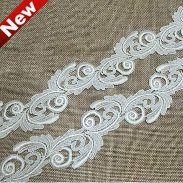 3yards/lot Polyester Lace Ribbon Clothing Decoration Ribbon Lace Trim Fabric For Sewing Bridal Wedding Dress Craft