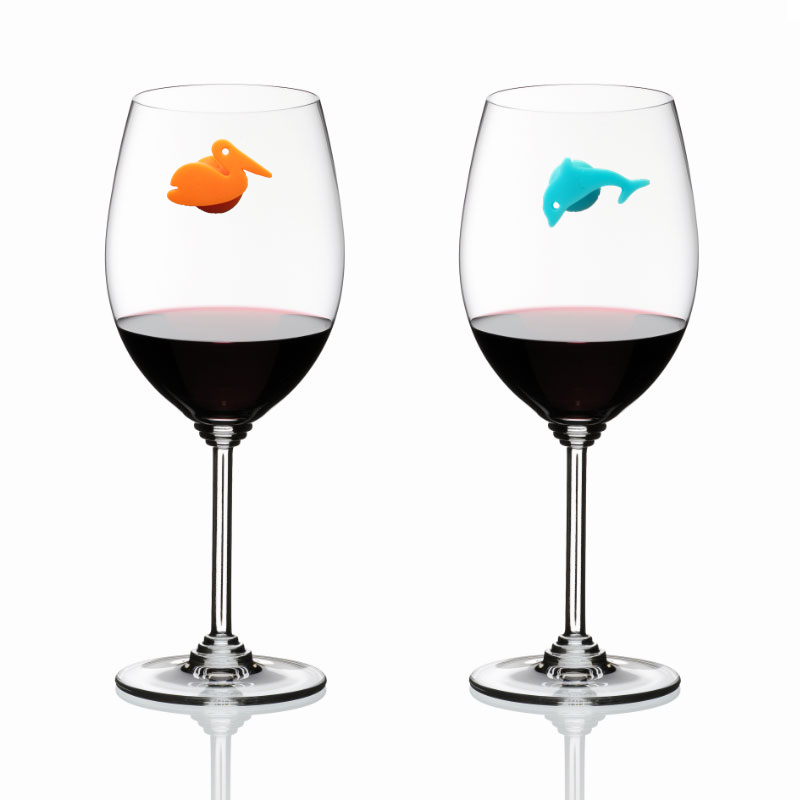 12Pcs Silicone Animal Shape Wine Glass /& Drink Markers Charms Suction Cup Marker