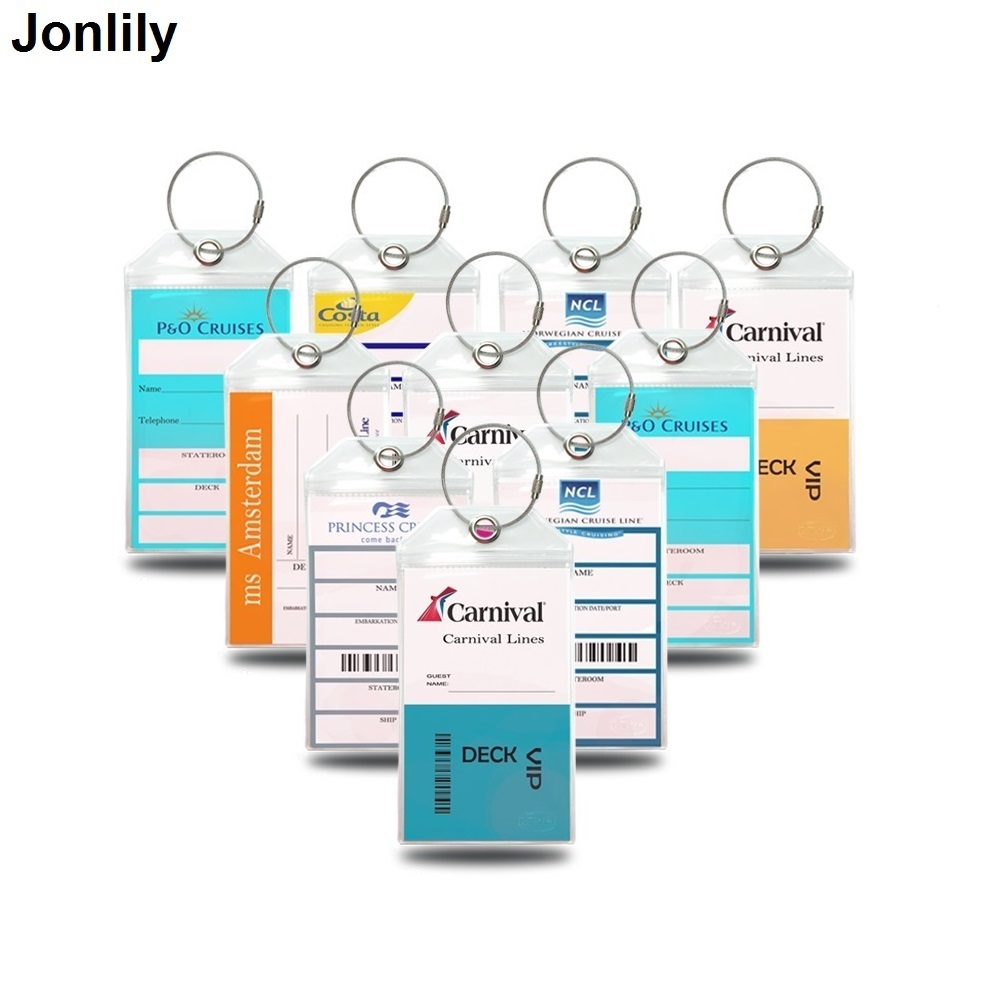 Cruise Tags Luggage Etag Holders for Princess, Carnival, Costa, Holland America, P&O, Norwegian Cruise ships number