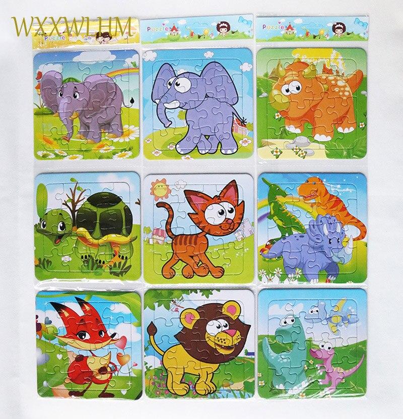 3 шт. Бумага мультфильм мудрость головоломки ребенок развивающие Бумага животный принт Puzzle