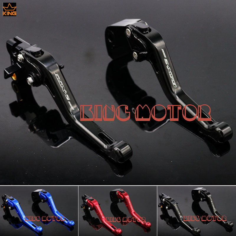 For SUZUKI GSX-S1000F GSX-S1000 GSXS1000 2015-2016 Motorcycle Accessories Short Brake Clutch Levers LOGO GSX-S1000 Black for suzuki gsx s1000f gsx s1000 2015 2016 motorcycle accessories short brake clutch levers logo gsx s1000 blue