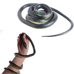 Novelty Halloween Gift Tricky Funny Spoof Toys Simulation Soft Scary Fake Snake Horror Toy For Party Event Kids Children