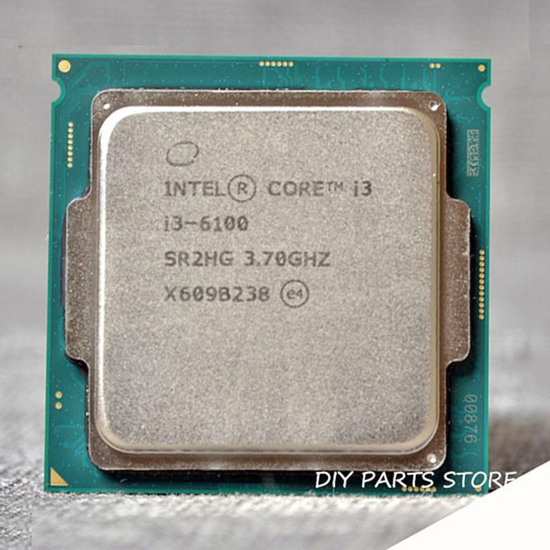 Intel Core 2 Core I3-6100 I3 6100 Lga 1151 Dual-Core 3.7 Mhz 3M Ram DDR3L-1333, DDR3L-1600 DDR4 Gpu HD530