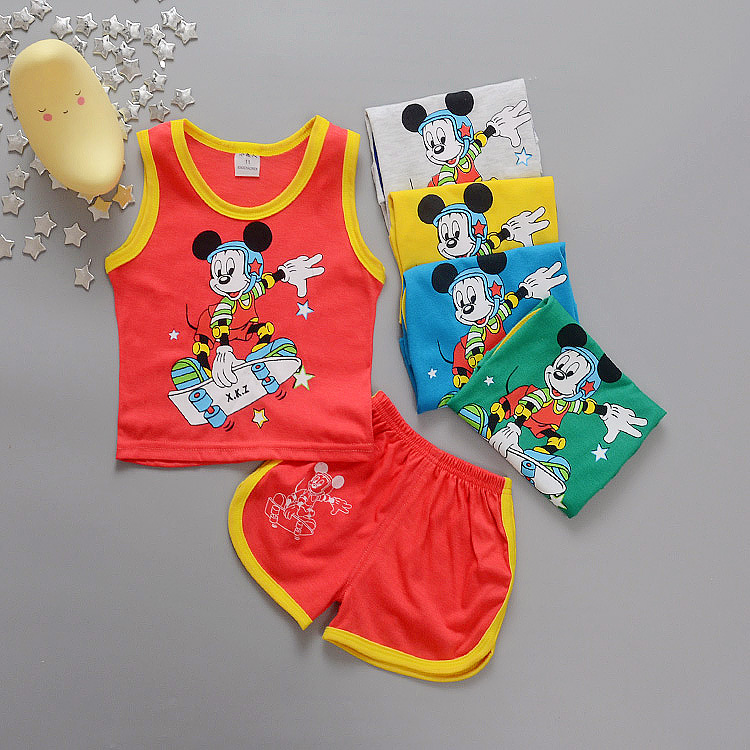 Baby Boy Summer Clothing Set baby tops Vest + Shorts pants Toddler Kids sport suit Infant Tracksuit Set Boys 6-18month Clothing