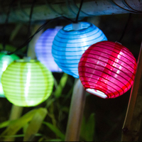 Solar String Lights Lantern Ball LED Solar Lamp Christmas Fairy Lights For Party Holiday Outdoor Garden
