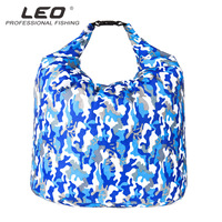 LEO live fish bag thickened portable folding heaven earth bagged fishing bags deodorant navy camouflage oxford S M L waterproof