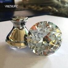 10 шт. 30 мм Современная Континентальная простая кристальная Алмазная ручка маленькая ручка с отверстием аппаратные средства для шкафа ящика шкафа дверь положить руку